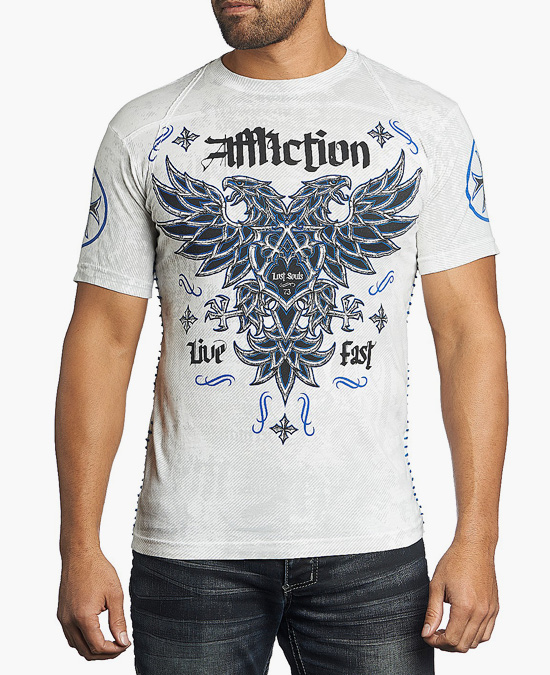 Affliction Atol  W/Shoulder Taping Tee/футболка мужская