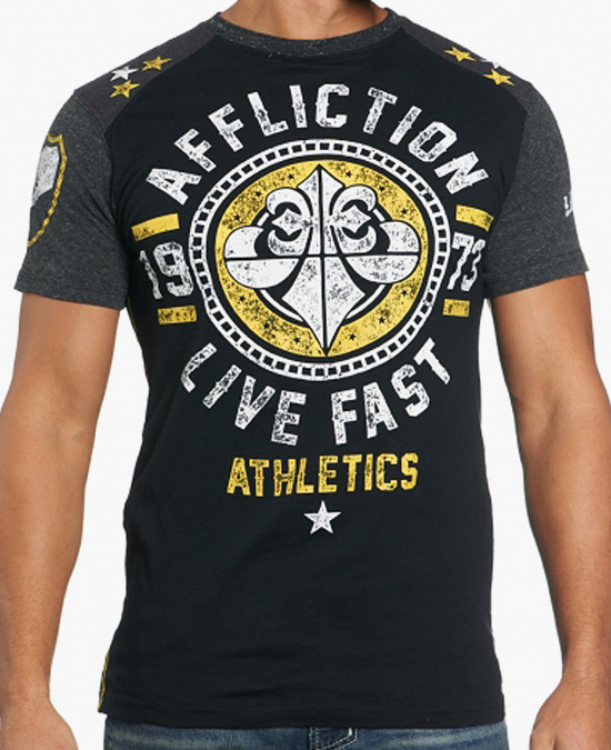 Affliction Alpha Custom Tee/футболка мужская