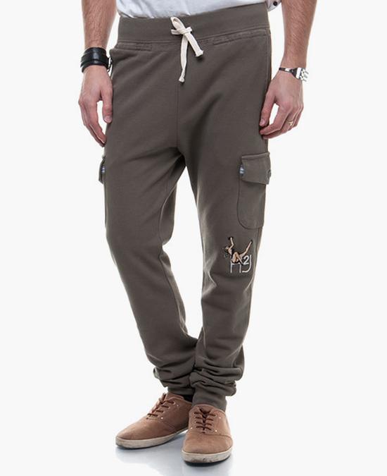 Hydrogen Pantalone tuta cargo piquet pin up H2J/спортивные штаны мужские