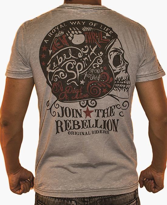 Rebel Spirit Men Join The Rebellion S/S Tee/футболка мужская