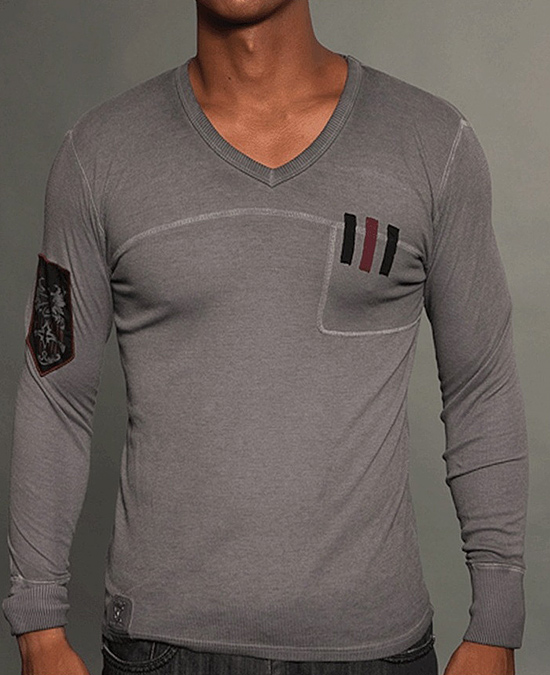 Rebel Spirit Men Long Sleeve Thermal Tee/футболка мужская