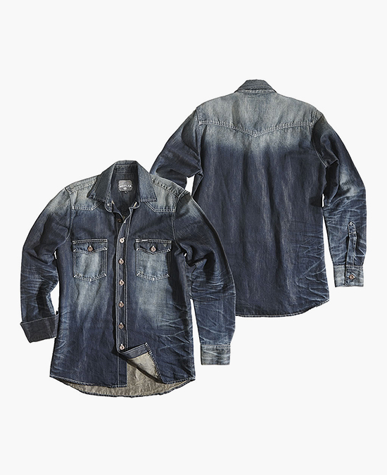 ROKKER Dark Denim Shirt/рубашка мужская