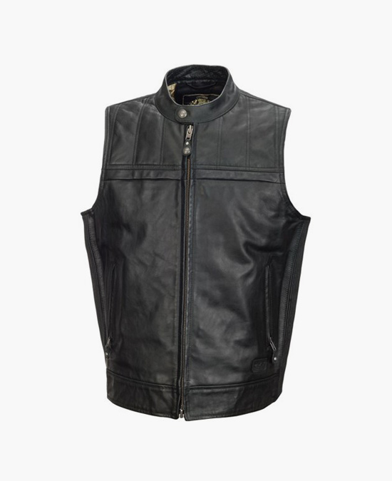 ROLAND SANDS Colt Leather Vest/жилет мужской
