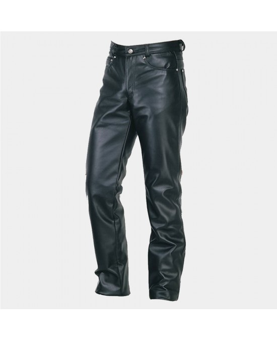 Schott Straight Leg Steerhide Leather Jeans