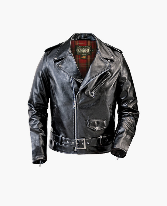Schott Lightweight Waxy Cowhide Fitted Motorcycle Jacket