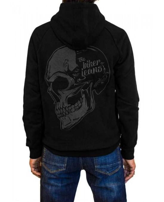 Biker Jeans Biker Skull Hoodie