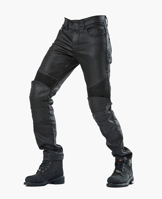 Biker Jeans Black Iron Flexi D-Kev-3