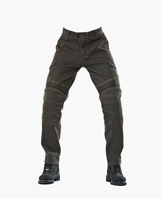 Biker Jeans Army Khaki Adventure Flexi