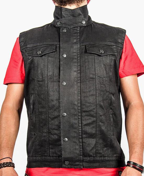 Biker Jeans Black Iron Vest