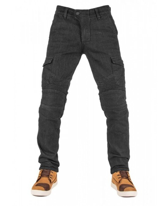 Biker Jeans Black Adventure Flexi V2