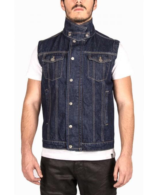 Biker Jeans Raw Indigo Vest