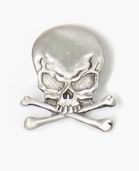 Hot Leathers Pin Skull and Crossbones/значок