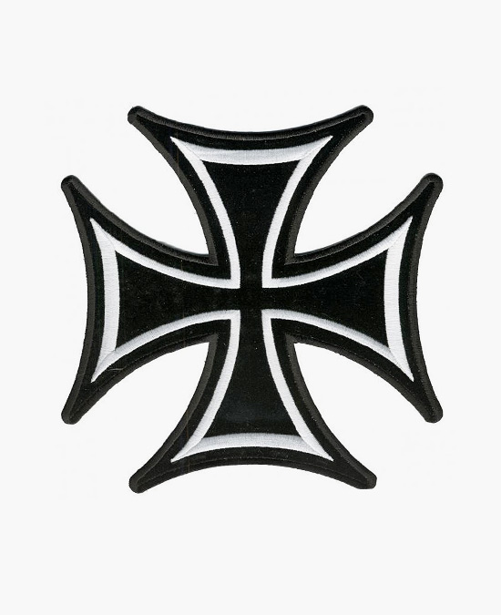 Hot Leathers Patch Iron Cross