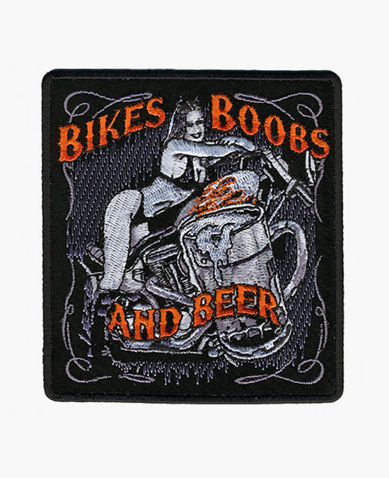Hot Leathers Patch Bikes, Boobs & Beer/нашивка
