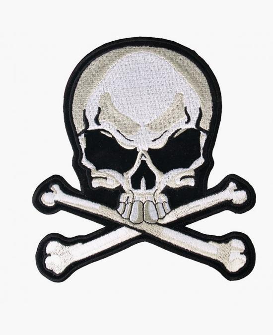 Hot Leathers Patch Skull & Bones/нашивка