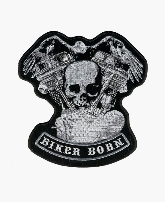 Hot Leathers Patch Distressed Skull&Motor/нашивка
