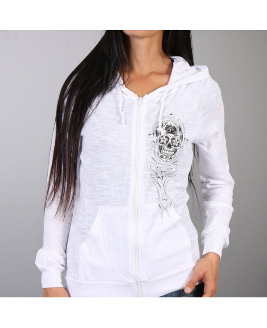 Hot Leathers Women Sugar Skull Hooded Sweatshirt