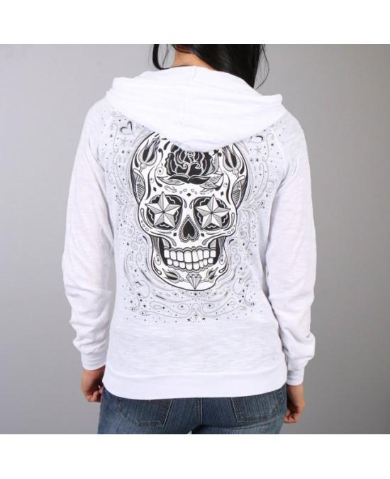 Hot Leathers Women Sugar Skull Hooded Sweatshirt