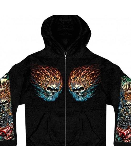 Hot Leathers Old School Hooded Sweatshirt/толстовка мужская