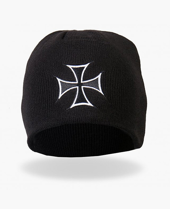 Hot Leathers Iron Cross Knit Cap