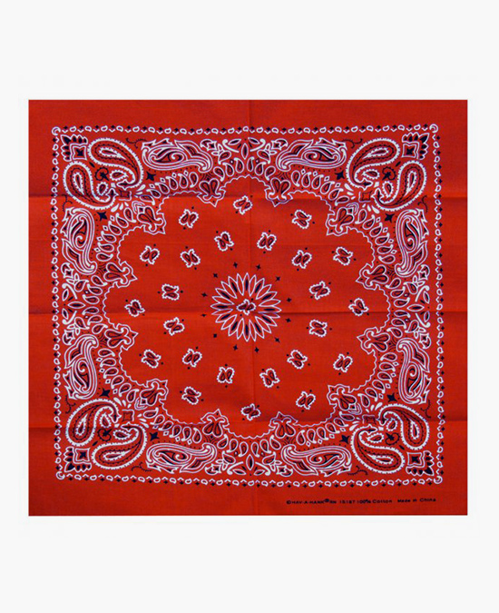 Hot Leathers Bandana Classic Red Paisley 21x21