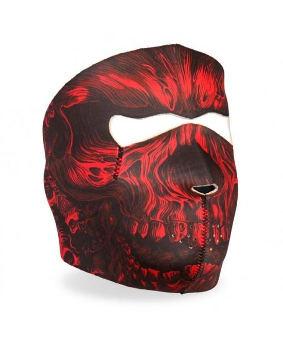 Hot Leathers Red Shredder Skull Facemask/маска