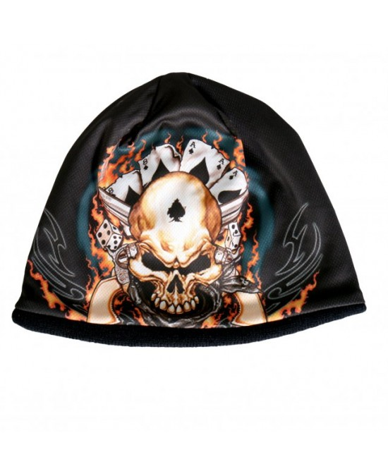 Hot Leathers Sublimated Dead Man Beanie/шапочка