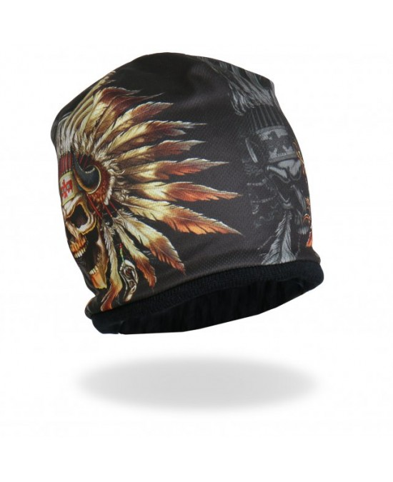 Hot Leathers Sublimated Indian Skull Beanie