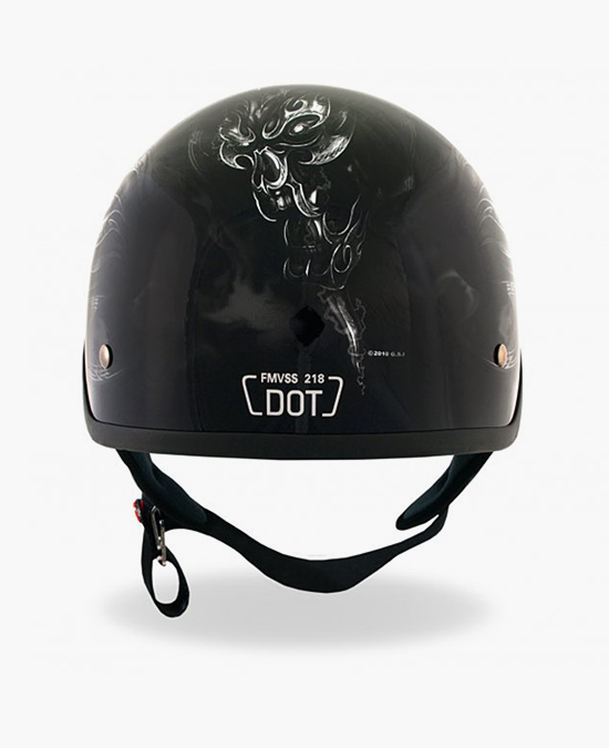 Hot Leathers Helmet Dot Electric Skull/шлем