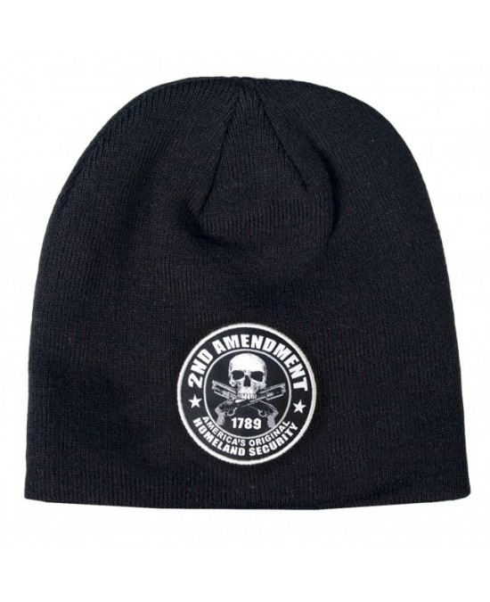 Hot Leathers 2nd Amendment Skull Beanie/шапочка