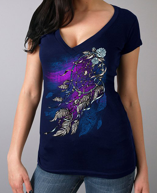 Hot Leathers Women Windy Dream Catcher T-shirt