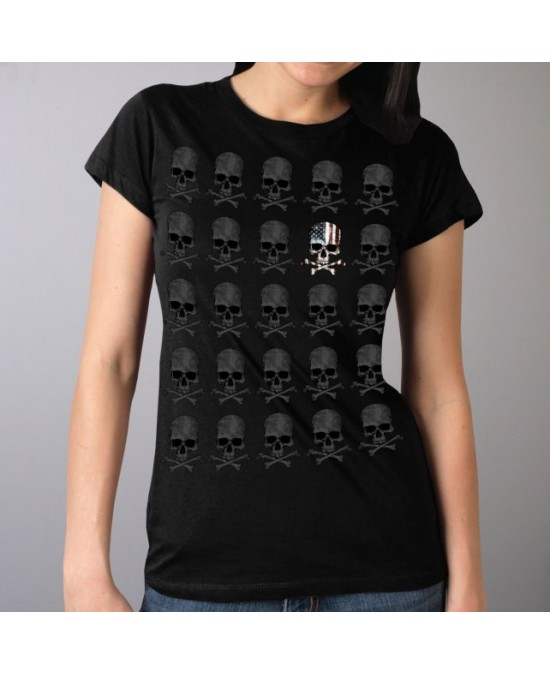 Hot Leathers Women Skull Pattern Full Cut T-shirt/футболка женская