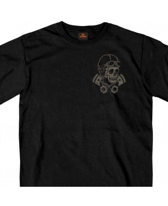 Hot Leathers Vintage Skull and Cross Pistons T-shirt/футболка мужская