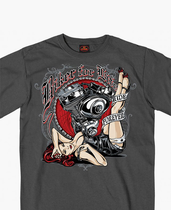 Hot Leathers Motor Pin Up T-shirt