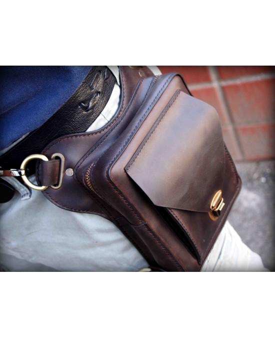SmyrnovLeather сумка набедренная с потайным карманом