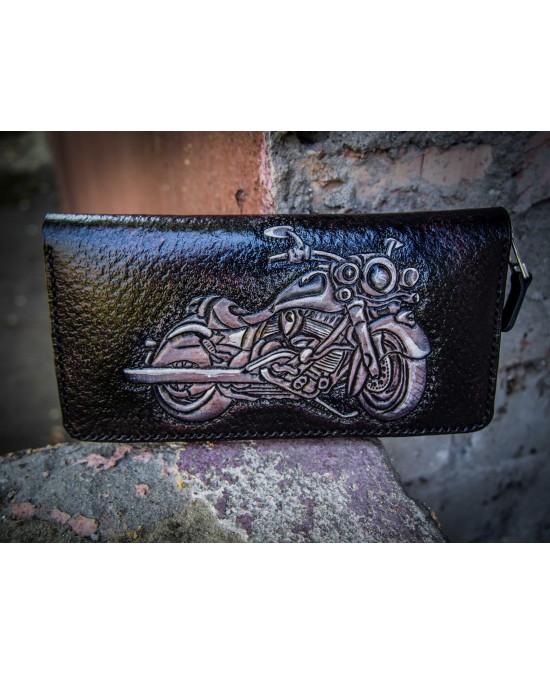 SmyrnovLeather портмоне на змейке Мотоцикл Индиан
