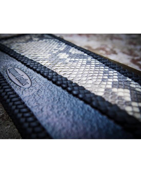 SmyrnovLeather портмоне на змейке с питоном и тесьмой Геометрия