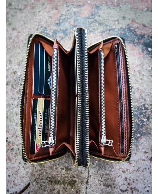 SmyrnovLeather wallet Lion