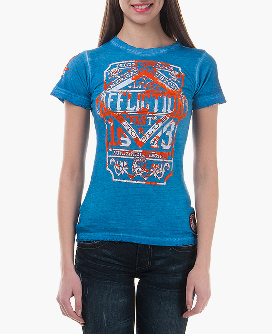 Affliction Women MC Authentic Tee