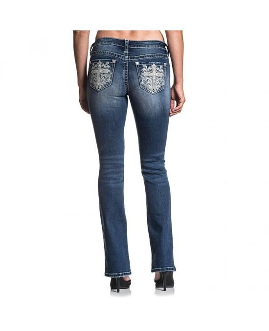Affliction Women Jade Standard Jeans/джинсы женские