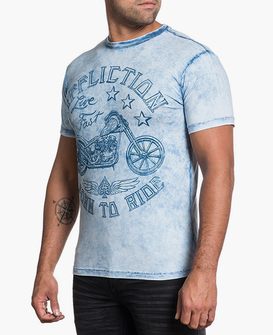 Affliction AC Pride Motors S/S Tee/футболка мужская