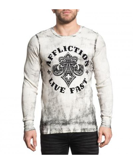 Affliction Royale L/S Thermal Tee/футболка мужская