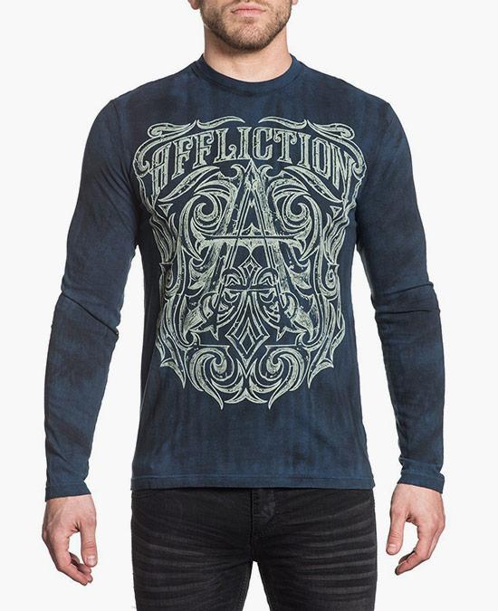 Affliction Causeway L/S Tee/футболка мужская