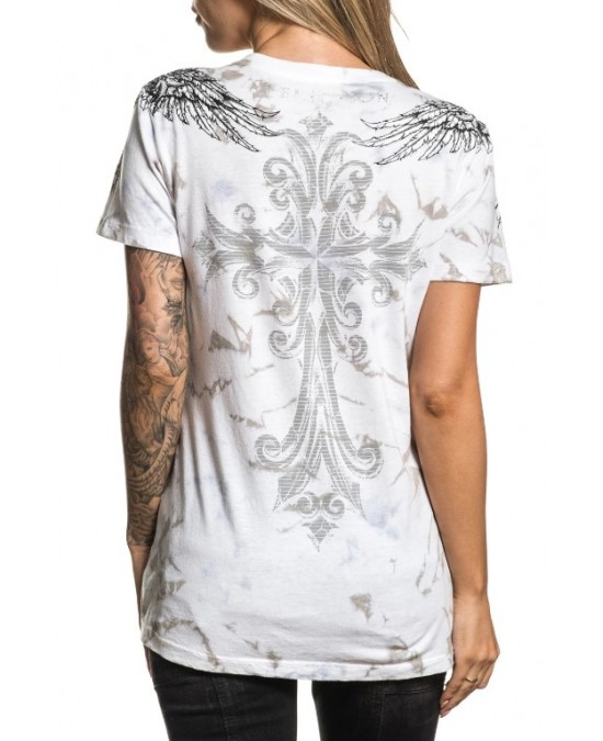 Affliction Women Fret S/S Baby Tee