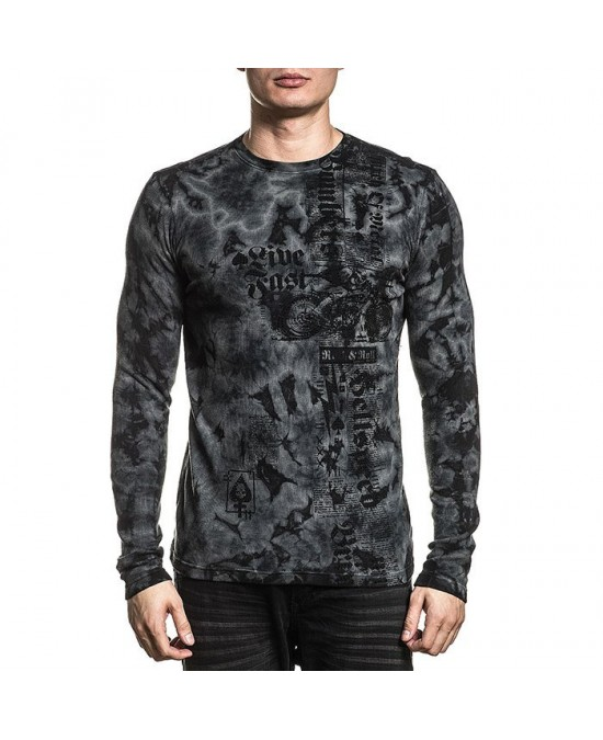 Affliction Moto Hellspeed L/S Thermal Tee/футболка мужская