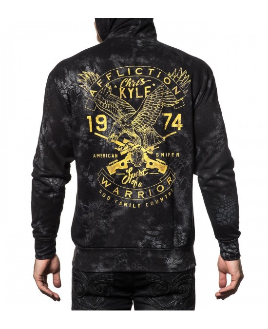 Affliction CK Freedom L/S Zip Hoodie/толстовка мужская