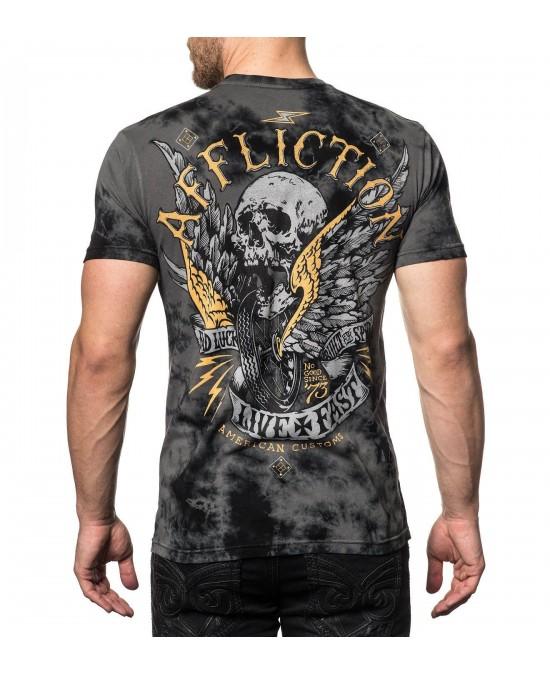 Affliction Bad Luck Motors S/S Tee/футболка мужская