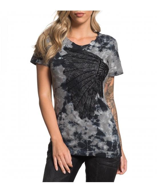 Affliction Women Libby S/S Scoop Tee/футболка женская