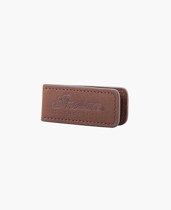 Indian Leather Money Clip