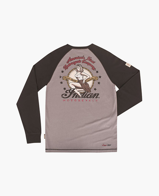 Indian Bomber Girl Raglan LS Tee